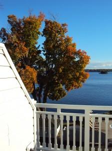 Blick auf den See von unserem Zimmer aus