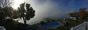 Morgens voll Nebel und Mittags schönster Sonnenschein